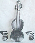 Unique Plaster Violin and Notes Wall Plaques