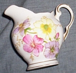 Tuscan Fine Bone China Creamer Floral Free Shipping