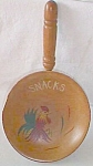 Vintage Wood Snack Dish Rooster