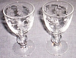 Pair (2) Beautifully Floral Etched Cordials Free Shipping