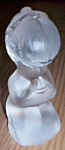 Click here to enlarge image and see more about item gw-141: Fenton Frosted Glass Praying Girl