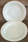 Click to view larger image of 2 Oscar Schaller & Co Porcelain Soup Bowls Retro Design (Image1)