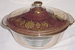 Click here to enlarge image and see more about item gw-72: George Briard Fire King Covered Casserole