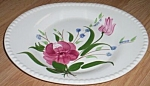 Click to view larger image of Blue Ridge Pottery Oval Tray Bluebell Bouquet Free Shipping (Image1)