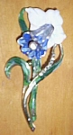 Stunning Cast Metal Antique Fur  Clip Iris