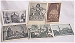 6 Vintage German Postcards Architectural Pictures