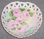Click to view larger image of Heart Dish Hand Painted Rose Signed G Pattsmith (Image1)
