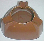 Unusual Hall Ashtray Triangle Brown