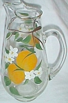 Click to view larger image of Hand Painted Orange Juice Pitcher Oranges w/ Blossoms (Image1)