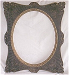 Click here to enlarge image and see more about item mah-7: Antique Gesso and Wood Picture Frame Oval Center