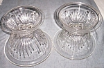 Click to view larger image of 4 Pc Federal Glass Mixing Bowl Set Star (Image1)