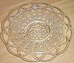 Imperial Glass Laced Edge Sugar Cane Plate Crystal