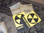 Click here to enlarge image and see more about item ofst-26: 2 Never Used Fallout Shelter Signs & More
