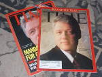 Click here to enlarge image and see more about item ofst-27: 2 Time Magazines Clinton Man of the Year +