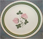Click here to enlarge image and see more about item ole-103: Blue Ridge Pottery Dinner Plate Sweet Clover