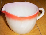 Fire King Shell Creamer Red Rim