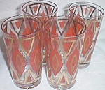 4 Real Hip Hippie 60�s Tumblers Glasses Swanky Swigs