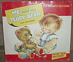 Click here to enlarge image and see more about item ole-190: Me and My Teddy Peter Pan Records 1952 NM