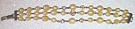 Click to view larger image of Unique Vintage 3 String Beaded Bracelet Free Shipping (Image1)
