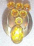 Click here to enlarge image and see more about item ole-200: Large Vintage Amber Brooch 40'S Free Shipping