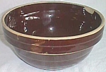 Click here to enlarge image and see more about item ole-229: 9� Brown Stoneware mixing Bowl Western Pottery