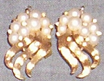 Trifari Signed Clip On Earrings
