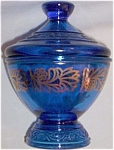 Click here to enlarge image and see more about item ole-390: Cobalt Covered Candy Gold Overlay