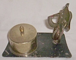 Click here to enlarge image and see more about item ole-541: Vintage Letter Scale Stamp Holder 50's