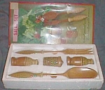 Click here to enlarge image and see more about item ole-562: Vintage Salad Set Original Box 60�S