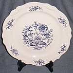 Click to view larger image of Blue Dresden Dinner Plate Sheffield Homer Laughlin (Image1)
