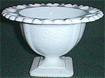 Click here to enlarge image and see more about item ole-58: Milk Glass Small Compote Lorain aka Basket 1960