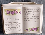 Click here to enlarge image and see more about item ole-592: Arnart �The Lord�s Prayer� Planter