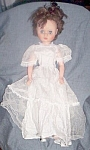 Click here to enlarge image and see more about item ole-597: Vintage Rubber Doll in Wedding Gown