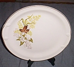 Vintage Serving or Cake Plate Autumn Leaves