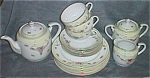 18 Piece Occupied Japan Tea Set Marked MK
