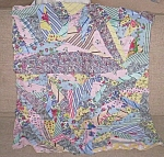 Click here to enlarge image and see more about item ole-665: Vintage Patch Work Baby or Doll Quilt