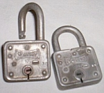 Click here to enlarge image and see more about item ole-667: Twice the Locks Pair of old Master Locks