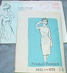 Click here to enlarge image and see more about item ole-685: 1965 Specialty Mail Order Dress Pattern Size 14