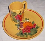 Click to view larger image of Italian Luncheon Plate & Mug Fruit (Image1)