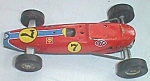 Click here to enlarge image and see more about item ole-702: Vintage Tin Pressed Friction Race Car