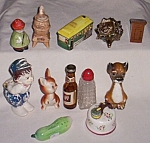Click to view larger image of Lot of  Vintage Single Salt Shakers (Image1)