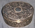 Lovely Silver Tone Jewelry Casket/Box