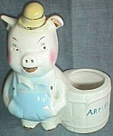 Click here to enlarge image and see more about item ole-749: Shawnee Advertising Pig Planter Armel Free Shipping
