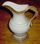 Beautiful Art Pottery Ewer Grape Vine Handle