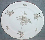 Click to view larger image of J Haviland Salad Plate Brown Rose Bavaria Germany (Image1)