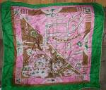Click here to enlarge image and see more about item ole-800: Vintage Silk Hollywood /LA Ladies Souvenir Scarf