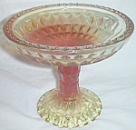 Jeannette Windsor Diamond Compote Amberina