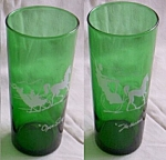 2 Swanky Swig Ice Tea Green w/ White Horse & Buggy