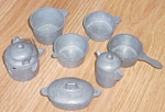 Miniature Cast Metal Toy Cookware Pots & Pans