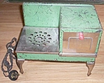 Click here to enlarge image and see more about item pen-40: Rare Antique Child's Electric Cook Stove Free Shipping